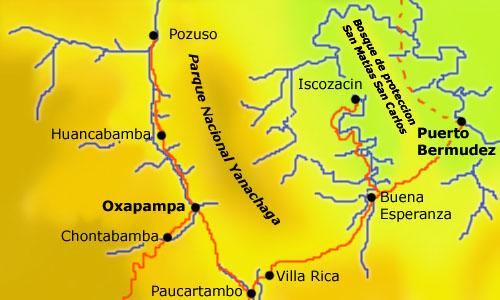 Oxapampa Peru Map.Trekperu